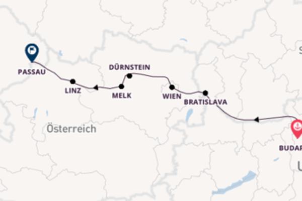 8-tägige Kreuzfahrt bis Passau, Deutschland