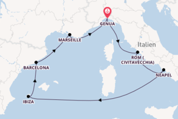 Zauberhafte Reise ab Genua