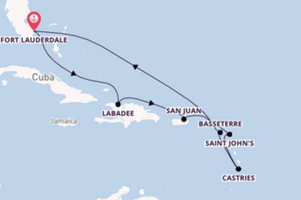 Crociera da Fort Lauderdale verso Castries