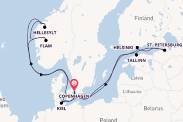Trip from Copenhagen with the MSC Virtuosa