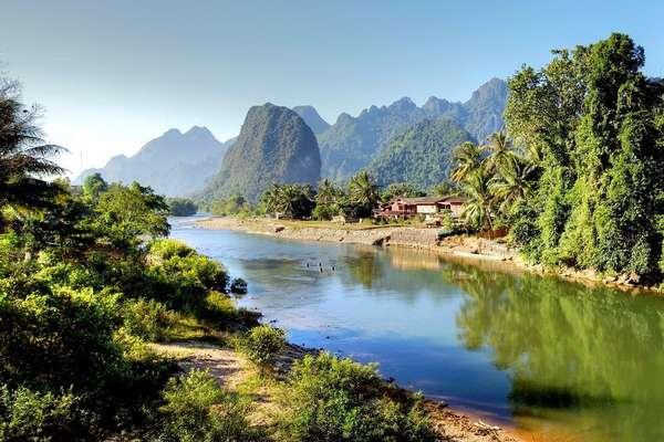 Mekong (Pak Ou-Höhlen), Laos