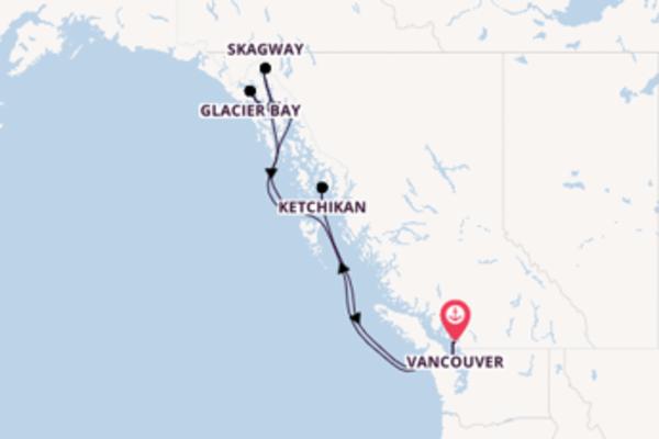 8-tägige Kreuzfahrt bis Vancouver