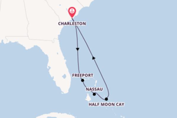A bordo di Carnival Sunshine fino a Charleston