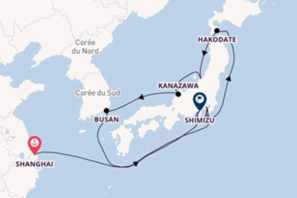12 jours de navigation à bord du bateau MSC Bellissima depuis Shanghai