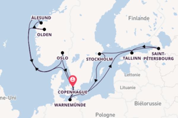 Saint-Pétersbourg et une idyllique croisière depuis Copenhague