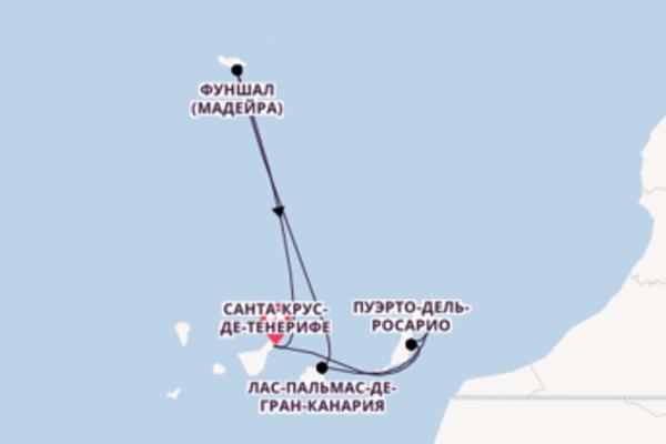 Неповторимое путешествие на 8 дней на AIDAnova