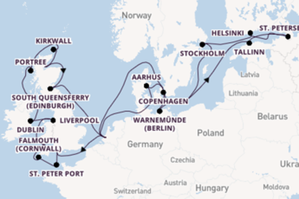 29 day cruise with the Volendam to Rotterdam (river port)