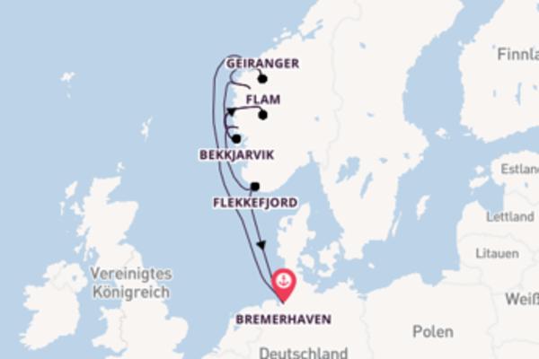 Kreuzfahrt mit der MS Deutschland nach Flekkefjord