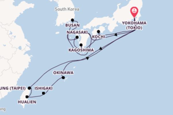 In 19 dagen naar Yokohama (Tokio)