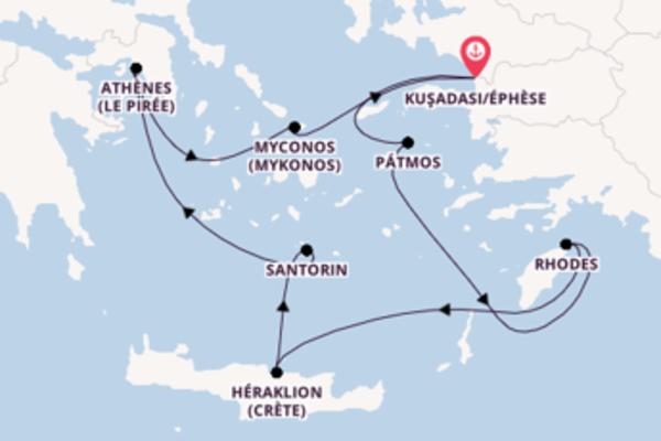 5 jours pour découvrir Myconos au départ de Kuşadası