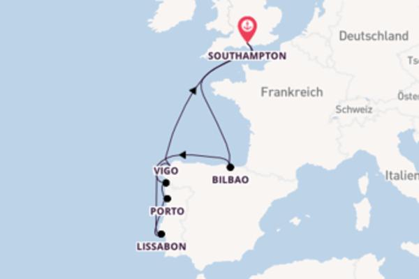 In 11 Tagen nach Southampton