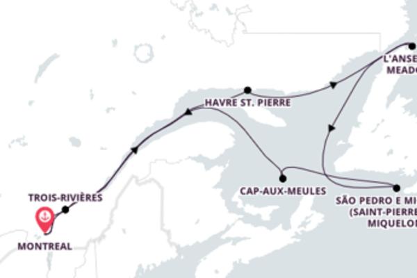 Aventura de 13 dias a bordo do Seabourn Quest