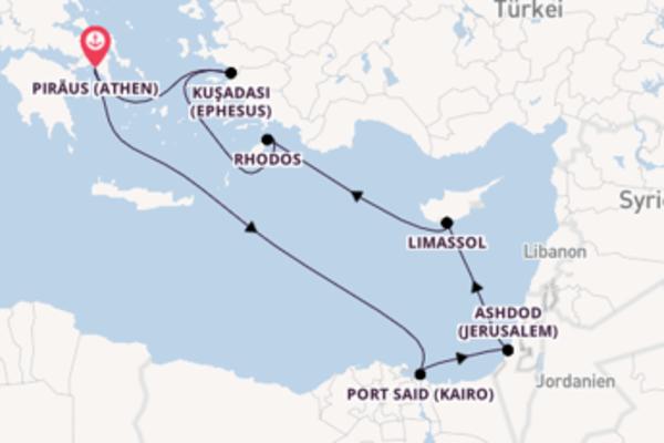 In 8 Tagen nach Piräus (Athen) über Port Said (Kairo)