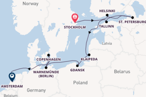 Voyage from Stockholm with the Norwegian Dawn