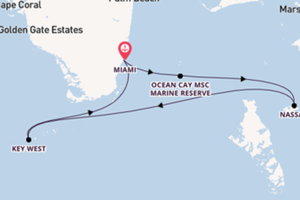 Sailing from Miami via Ocean Cay MSC Marine Reserve
