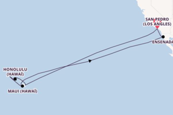 16 jours de navigation à bord du bateau Sapphire Princess depuis San Pedro (Los Angles)