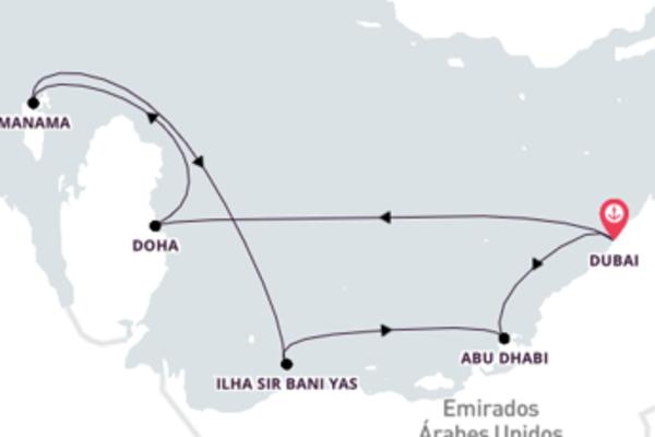 Extraordinário cruzeiro até Dubai