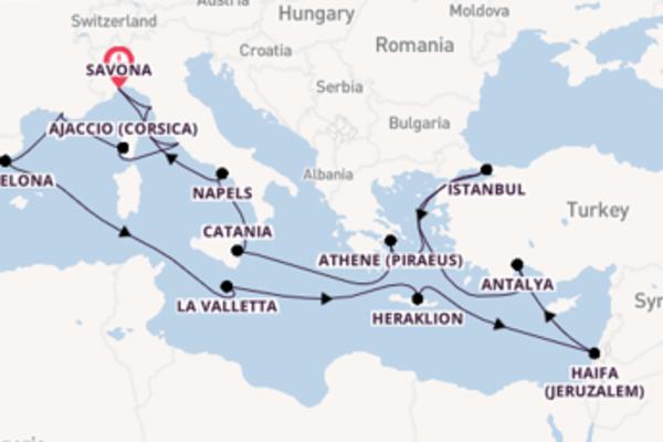 23-daagse cruise naar Athene (Piraeus)