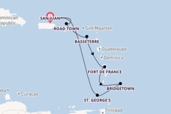 8 day cruise with the Enchantment of the Seas to San Juan