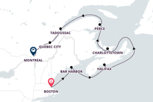 12-Night Canada Cruise from Boston to Montreal