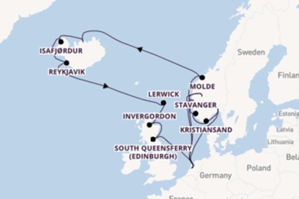 Drieweekse ontdekkingsreis naar Noorwegen en IJsland