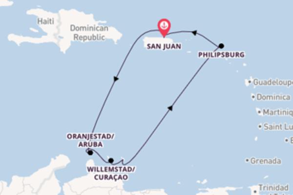 Sailing from San Juan via Philipsburg
