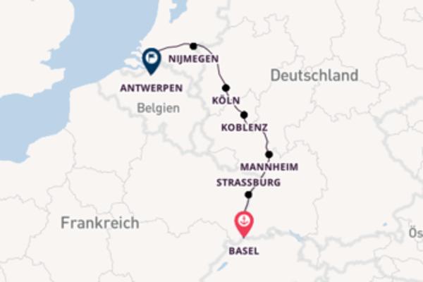 Eindrucksvolle Kreuzfahrt über Köln nach Antwerpen