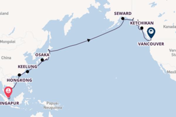 Vom bunten Asien zu den Naturgewalten Alaskas