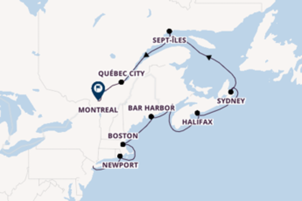 Trip with the Seven Seas Navigator to Montreal from New York