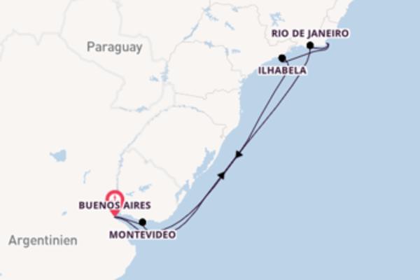 Buenos Aires und Rio de Janeiro erkunden