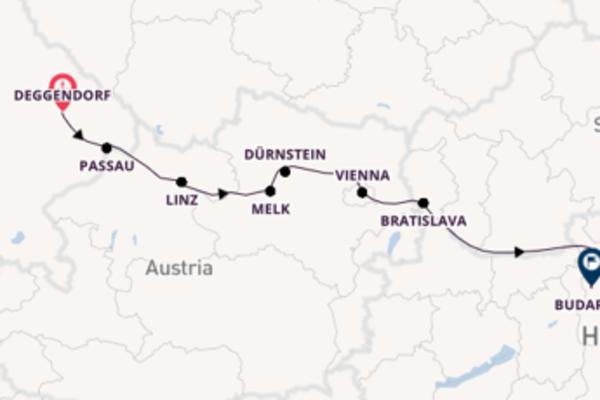 Sailing with Avalon Waterways from Deggendorf to Budapest