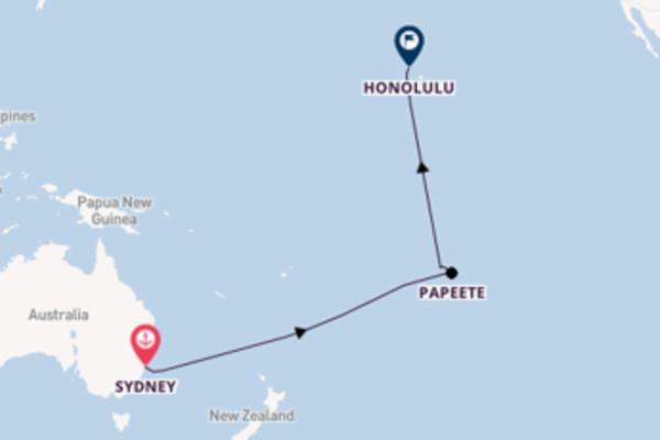 16 day voyage to Honolulu from Sydney