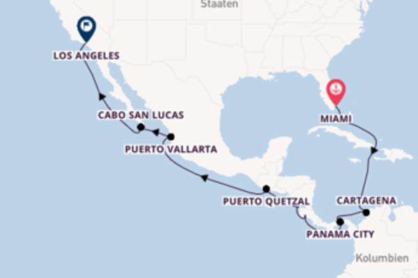 Einmalige Kreuzfahrt von Miami nach Los Angeles