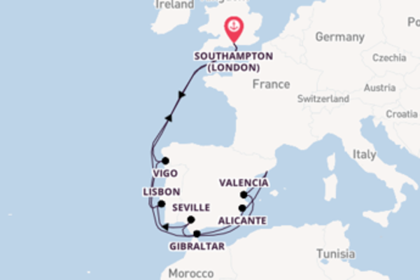 Trip with P&O Cruises from Southampton