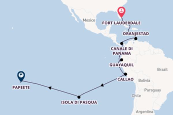 Crociera da Fort Lauderdale verso Isola di Pasqua