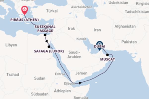 17-tägige Kreuzfahrt bis Dubai