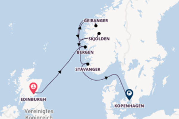 Edinburgh und Kopenhagen erkunden