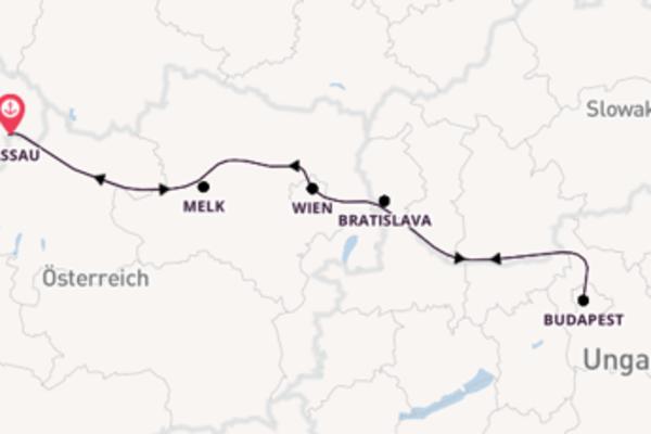 Donaupanorama ab/bis Passau