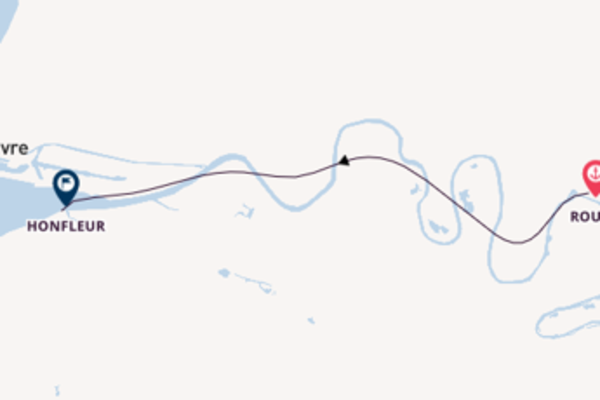 Cruising from Rouen to Honfleur