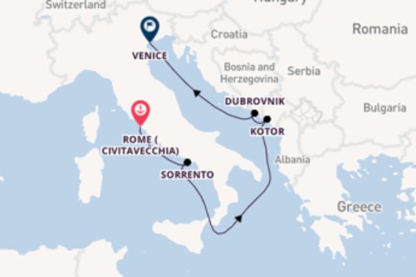 Cruising to Venice from Civitavecchia (Rome)