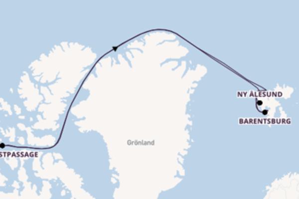 Erleben Sie Nordwestpassage, Arktis ab Longyearbyen, Norwegen