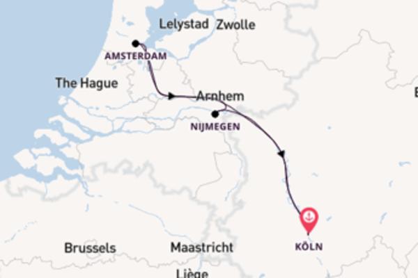 In 4 Tagen nach Köln über Amsterdam