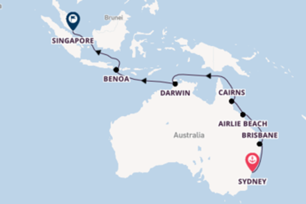Sailing from Sydney via Darwin
