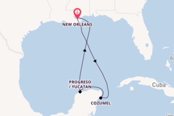 6 day expedition on board the Carnival Valor from New Orleans