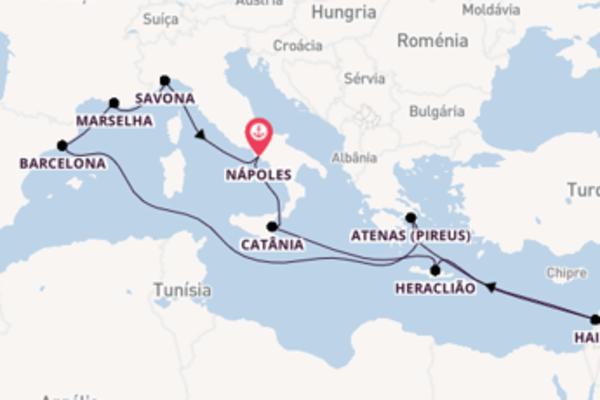 Navegando a bordo do Costa Diadema por 15 dias