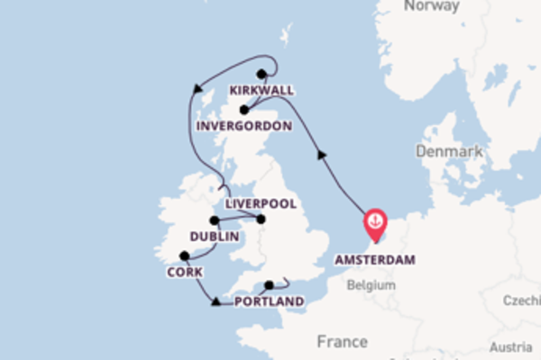 Ga mee op de Norwegian Dawn naar Southampton (Londen)