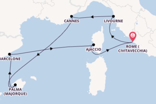 Fantastique croisière vers Rome (Civitavecchia) via Palma (Majorque)