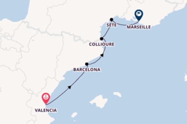 Eindrucksvolle Kreuzfahrt über Barcelona ab Valencia