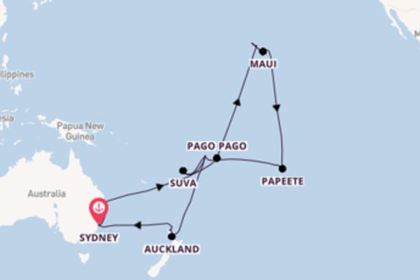Viaggio da Sydney verso Bora Bora