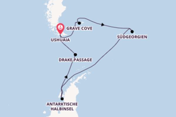 Begeisternde Kreuzfahrt über Ushuaia, Argentinien nach Antarktische Halbinsel, Antarktis